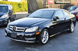 2012 Mercedes-Benz C250 Coupe  Blue Efficiency